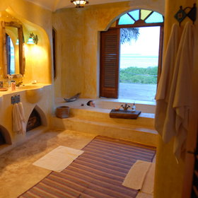 Wallow in a luxurious bath with the view…
