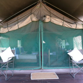 These are traditional safari tents -