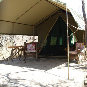 At the front of each tent is a large porch where you can sit and enjoy your surroundings.