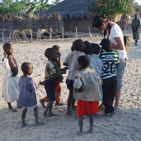 ..or village football with local children.