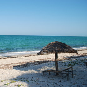 ...overlooking one of Mosambique's stunning beaches.