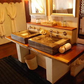 Each villa has a large en-suite bathroom...