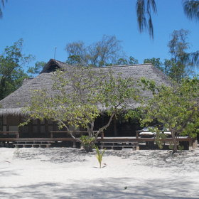 Vamizi lodge has ten spacious, palm-thatched villas set along the island's endless beach.