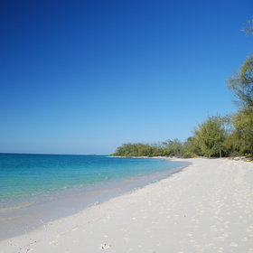 Besides, you get your own stretch of white sandy beach.