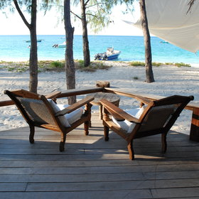...and an outside deck, complete with Swahili daybeds and sun chairs.