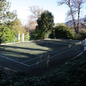 Whilst staying at the Cellars-Hohenort, you can play tennis...