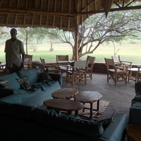 The main areas are simple, but nicely done, with good shade from the hot Tsavo sun…