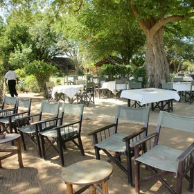 There's also a popular outdoor area where lunch is usually eaten…