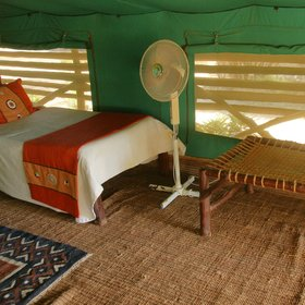 …with the addition of floor fans (Tsavo East can be very warm at night).
