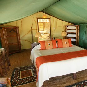 Satao's 'suite' tents are better furnished…