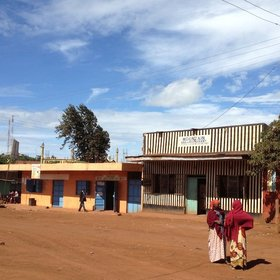 Transfers between the airstrip and the lodge pass through dusty/muddy Marsabit town…