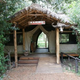 …and is one of the most eco-friendly safari camps in the region.