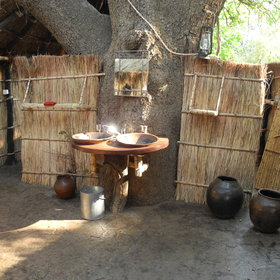 The rooms and bathrooms are all built using locally sourced materials.