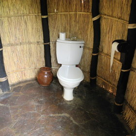 ... and a separate enclosed flush toilet.