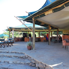 Kicheche Valley  Camp's main dining-lounge area has a beautiful location…