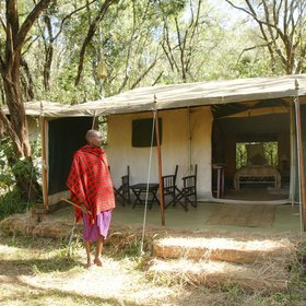 Nairobi Tented Camp is every inch the traditional safari camp, and in a beautiful, truly wild area.