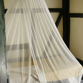 Old-style mosquito nets do the job…