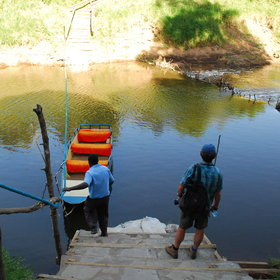 It is located on the west side of the Mara River, and you reach it using a tiny ferry service.