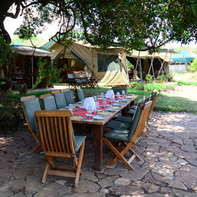 Kicheche Mara has a delightful location and guests and managers usually eat together, often outside.