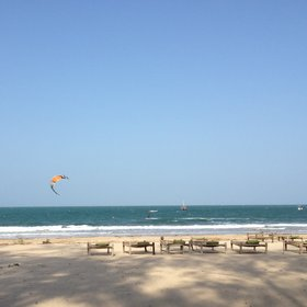…and kitesurf. This is the lodge that introduced the sport to Kenya…