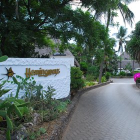 Arrival is from the main Watamu beach road, down an access track and then a tiled driveway.