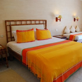 Deluxe rooms are more comfortably furnished…