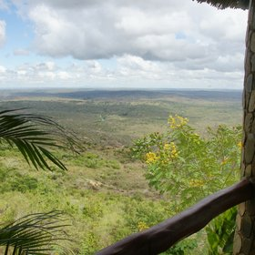 The lodge has stunning views to the northwest across the countryside behind the Shimba Hills…