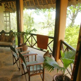 Frangipani villa features a private lounge…