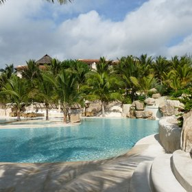 Swahili Beach's pool is one of its most outstanding features.