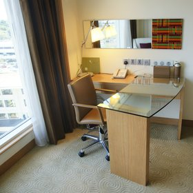 In both standards of room, a practical work space, with wired and WiFi internet and power points…