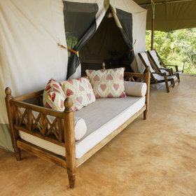 The tents are very large, with ample veranda space…