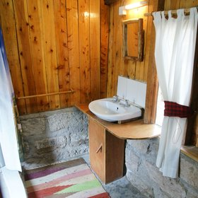 We thought the bathrooms – and every other aspect of Acacia Camp – were fine, but it's not fancy.