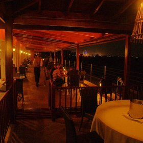 …and fellow diners and drinkers, as here on the terrace overlooking Nairobi National Park.