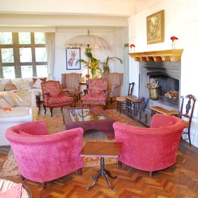 …while the main lounge has the slightly cluttered informality of a country house drawing room.