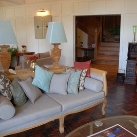Like the main house, the Garden Manor has a comfy sitting room…