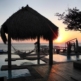 … and hammocks to enjoy the sunset.