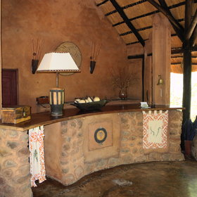 It is decorated in an African-style, using natural colours and materials…