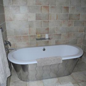 ...each with a large stand-alone bath.