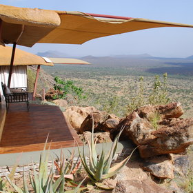 You have wonderful views of the Samburu from everywhere in the camp.