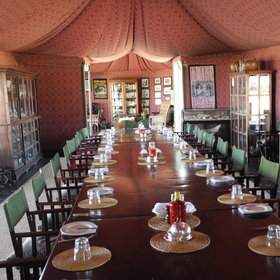 The main tent houses not only the dining and lounge areas, but also a natural history museum...