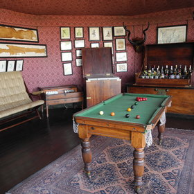 ...and a social area with bar and pool table.