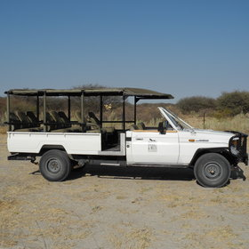 Activities focus on game-drives that take place in the Magkadikgadi Pans National Park until sunset.