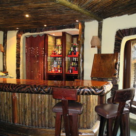 There is also a bar - a great place to relax in the evening after a busy safari.