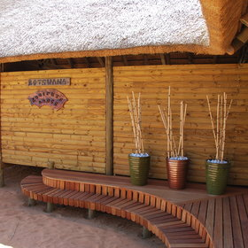 Ta Shebube Rooiputs is a lodge on the Boswana side of the Kgalagadi Transfrontier Park.