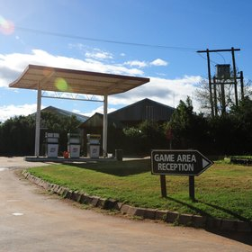 The camp has many facilities including a fuel station…