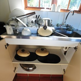 …and kitchen facilities, either shared with other guests…