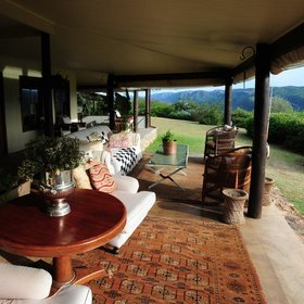 ...a comfortably furnished veranda…