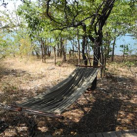 …leave your everyday worries behind on the tent's  hammock…