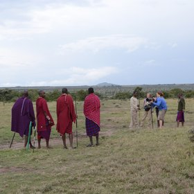 …and the guides mostly wear traditional Maasai clothing.