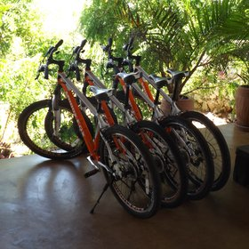 For those who want to explore the local area there are plenty of brand new mountain bikes to use.